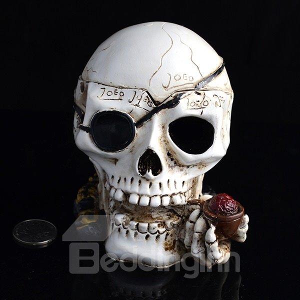 Creative Smoking Skull Head Ashtray Halloween Gift