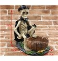 Novelty Skeleton with Black Cloak Ashtray Halloween Gift