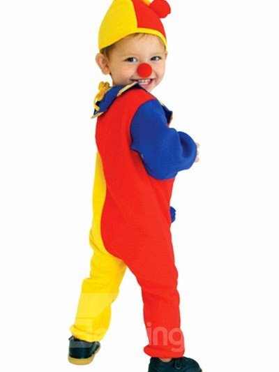 Super Cute Colorful Baby Clown Halloween Costume