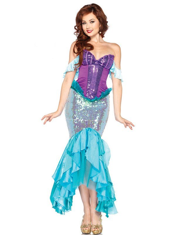 Pretty and Sexy Mermaid with Shining Spangle Costume
