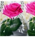 Lifelike 3D Roses Necklace Print Cotton Bed Skirt