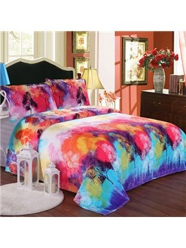 Super Comfy Smooth Colorful Design Flannel Blanket