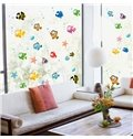Bathroom Nursery Shower Room Bubble Fish Removable Wall Sticker