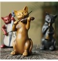 Creative American Country Style Resin Three Cats Band Desktop Decoration