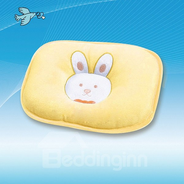 Cute Rabbit Embroidered Prevent Flat Head Baby Pillow