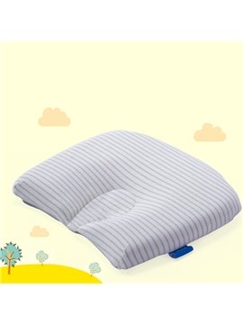 Simple Style Stripes Pattern Natural Colored Cotton Baby Pillow