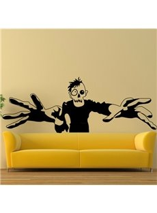 Halloween Scary One-Eyed Demon Trying to Catch You Removable Wall Sticker