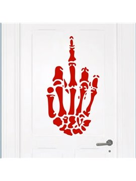 Halloween Scary Hand Skeleton Door Wall Glass Window Decoration Removable Wall Sticker