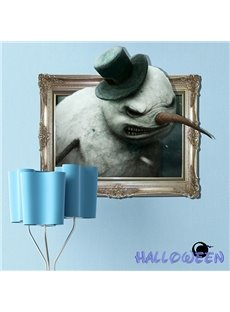 Halloween Fierce-Looking Monster in Top Hat 3D Wall Sticker