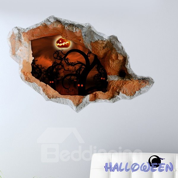 Halloween Dark Forest Trees with Evil Eyes 3D Wall Sticker