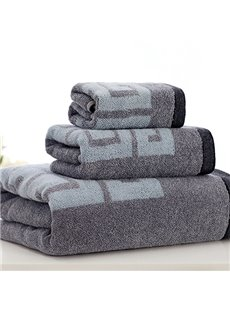 Unique Classic Style Bath and Face Towel Set