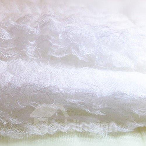 Fashion Pure White Super Soft Kids Cotton Towel