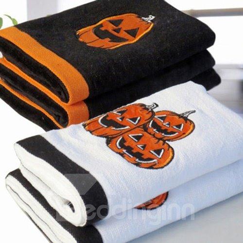 Wonderful Unique Pumpkin Design Halloween Cotton Towel