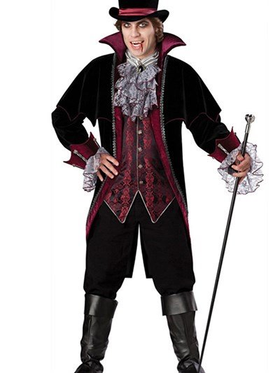 Sparking and Elegant Medieval Style Halloween Vampire Costume