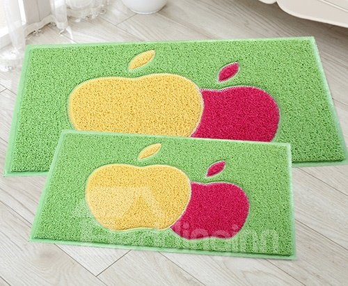 New Style Gorgeous 2 Pieces Double-Apple Design Bath Rug