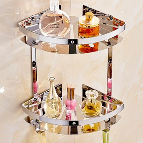 Triangle Shape Stainless Steel Bathroom Shelf