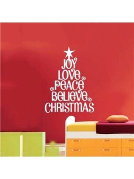 Christmas Letters Design Joy Love Peace Removable Wall Sticker