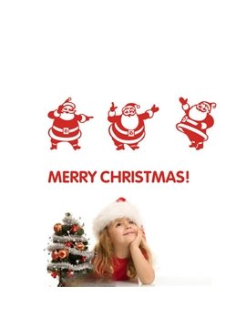 Festival Christmas Glass Wall Decoration Santa Claus Removable Wall Sticker