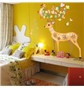 Christmas Lovely Cartoon Deer Nursery Removable Wall Sticker