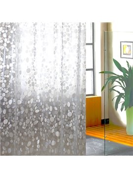 New Arrival Rain Flower Pebbles Design Waterproof Shower Curtain