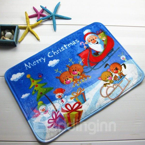Festival Merry Christmas Theme Joyous Anti-Slipping Doormat