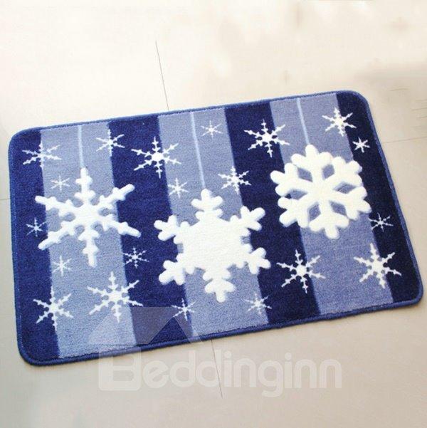 Wonderful Snow Flake Pattern and Strips Anti-Slipping Doormat
