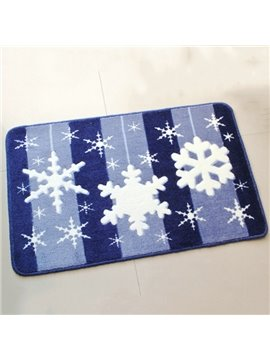Wonderful Snow Flake Pattern and Strips Anti-Slipping Doormat