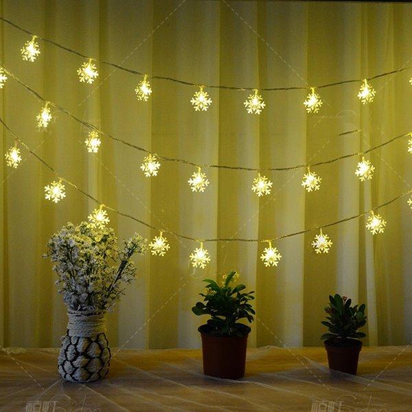 Festival Christmas Decoration Snowflake Design 10-Meter Strip LED Lights