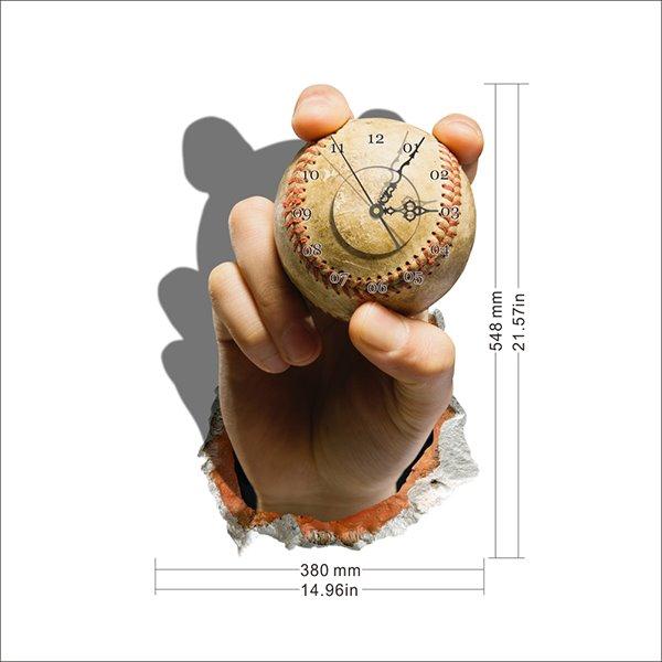 Creative Baseball in Hand Design Wall Clock
