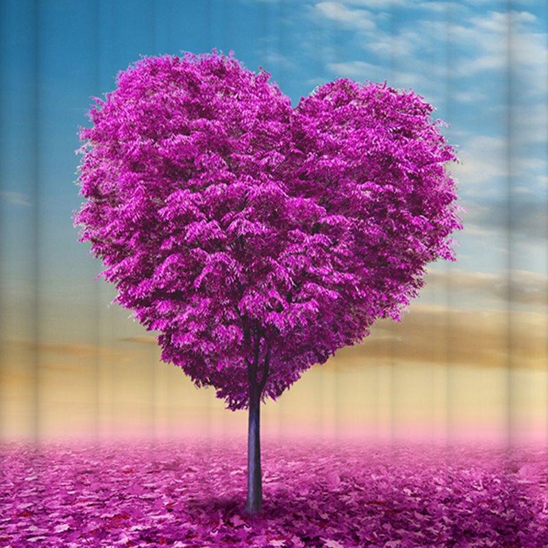 Graceful Unique Purple Flower Heart 3D Shower Curtain