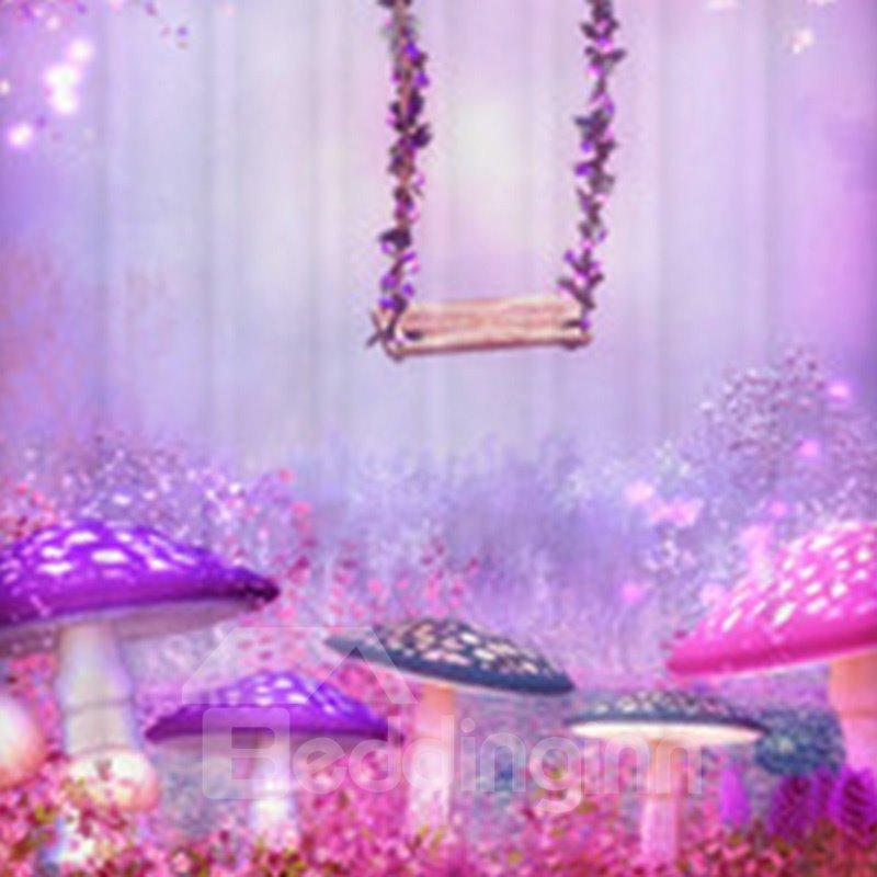 New Style Sparking Purple Fairyland 3D Shower Curtain