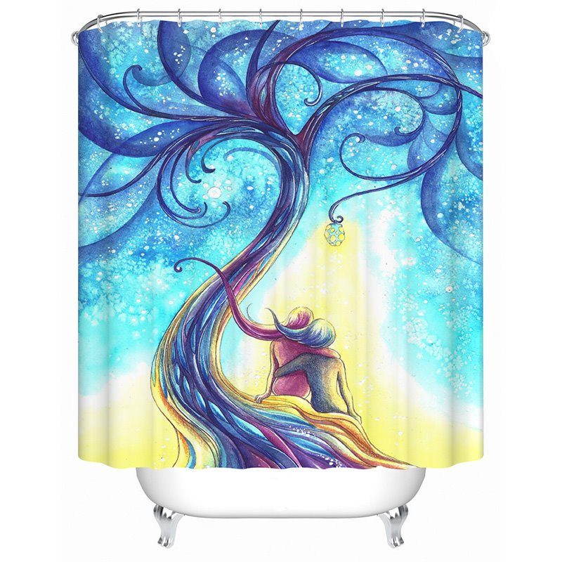 New Arrival Luxury Wonderland Design 3D Shower Curtain