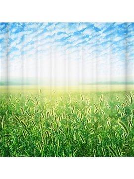 Peaceful Unique Green Field 3D Shower Curtain