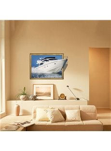 Amazing Ship Cruise on Sea 3D Wall Sticker