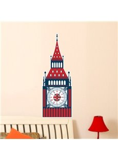 Classic London Lanmark The Big Ben 3D Sticker Wall Clock