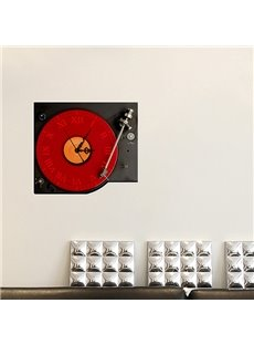 Creative Music Records Design 3D Sticker Wall Clock