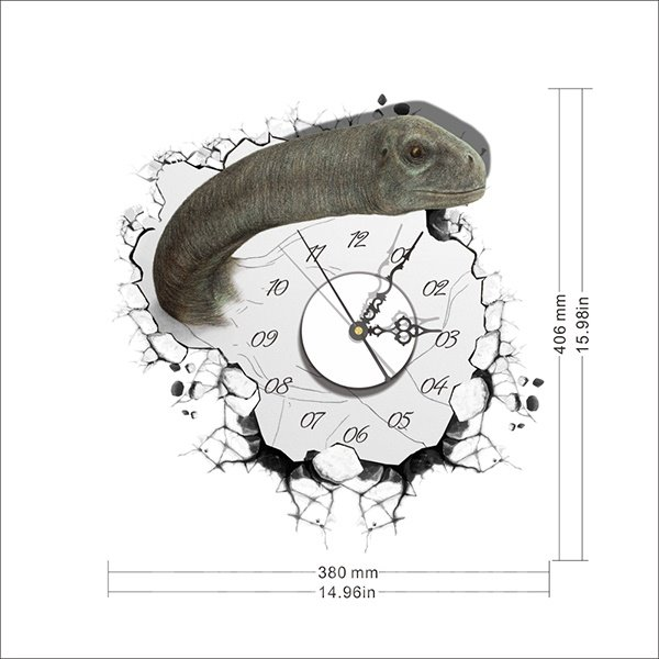Snake Coming out of the Wall 3D Sticker Wall Clock