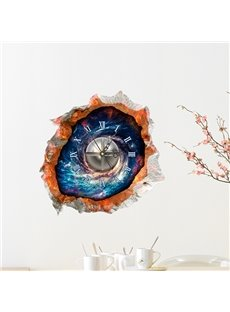 Amazing Blue and Mystery Universe 3D Sticker Wall Clock