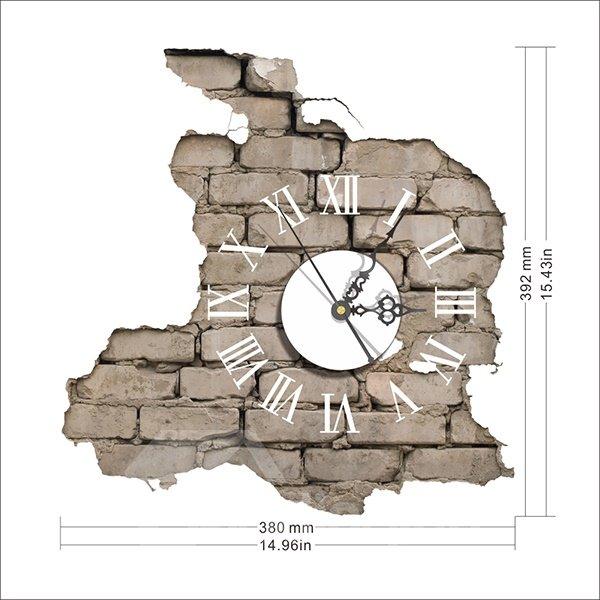 Creative Peeled off Brick Wall 3D Sticker Wall Clock