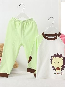 Cute Little Hedgehog Print 100% Cotton Kids Pajamas
