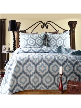 High Grade Concise Blue 100% Cotton Bed in a Bag