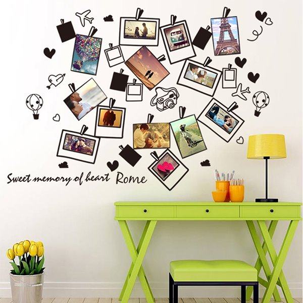 Around World Travel Wall Photo Frame Removable Wall Sticker