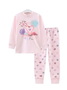 Elegant Swans and Dandelion Print Kids Pajamas