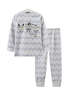 Three Little Monster Friends and Stripes Pattern Kids Pajamas