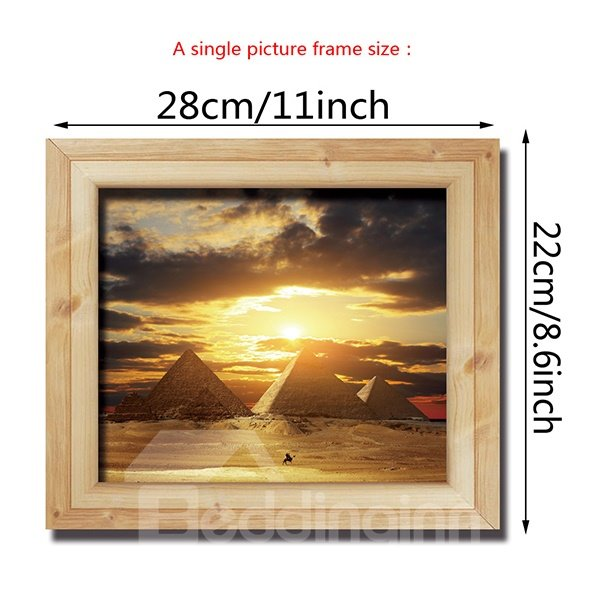 Amazing World Famous Pyramid Eiffel Tower Removable Wall Sticker