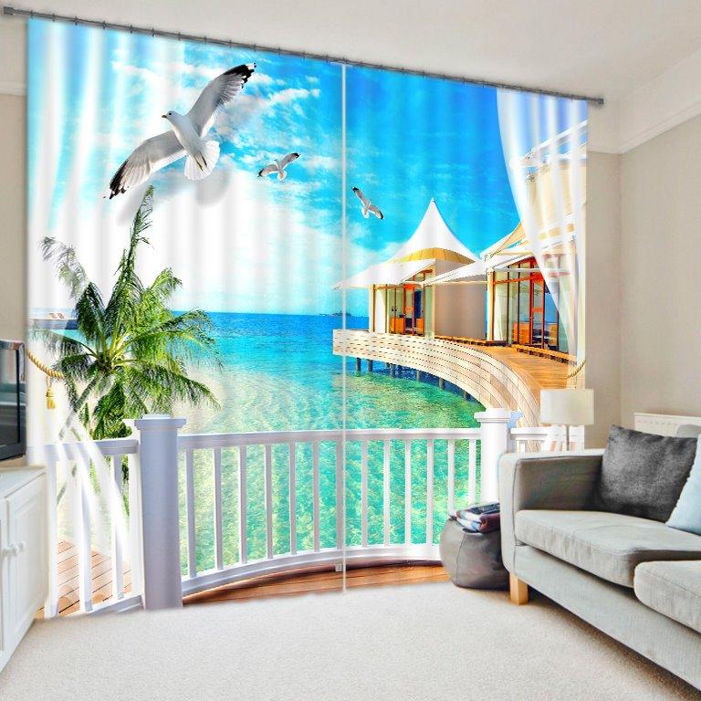 Wonderful Scenery 3D Energy Saving Curtain