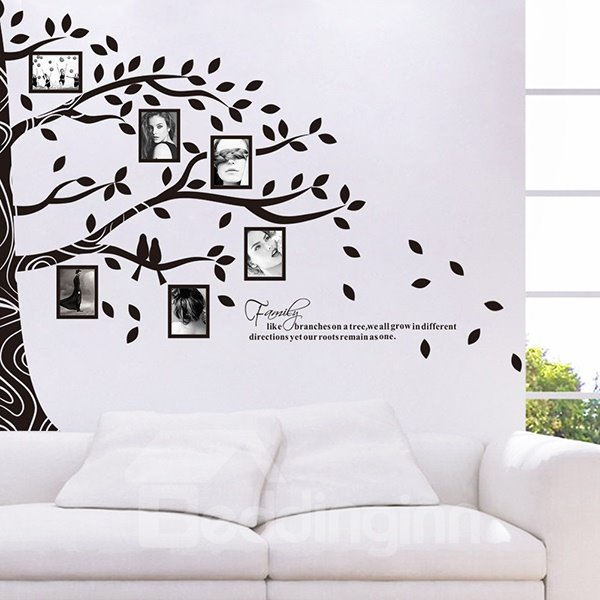 Large tree design photo display wall photo frame wall - Stickers para decorar paredes ...