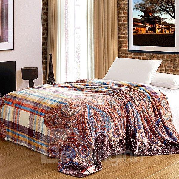 Exotic Creative Plaid Jacquard Design Flannel Blanket