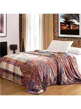 Exotic Creative Plaid Jacquard Design Flannel Blanket