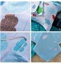 Colorful Clouds Pattern Kids Cotton Duvet Cover Set